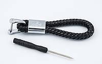 Брелок с логотипом RENAULT, плетеный берлок с логотипом ренуаль для автомобилиста + карабин/черный