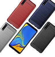 Защитный чехол iPaky Slim с карбоновыми вставками для Samsung A750 Galaxy A7 (2018) (выбор цвета)