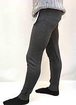 Підштаники чоловічі на флісі в світло-сірому кольорі M - XXXL, фото 3