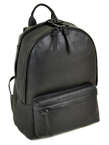 Мужской кожаный стильный городской рюкзак BRETTON BE 2004-1 черный, фото 2