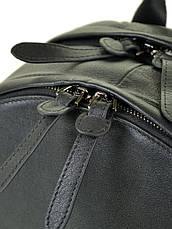 Мужской кожаный стильный городской рюкзак BRETTON BE 2004-1 черный, фото 3