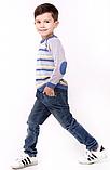 Полосатый свитер для мальчика тм Лютик р-р 86, фото 2