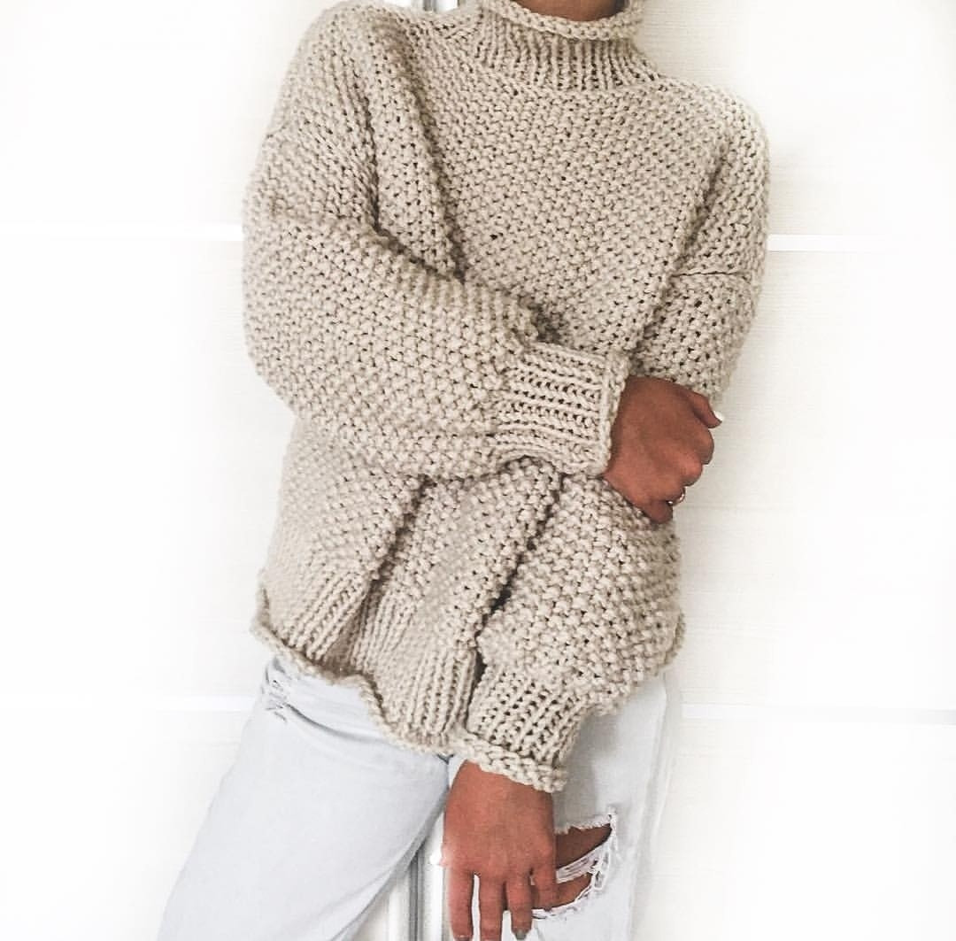 a6815a0d05d Женский свитер крупной вязки под горло  продажа
