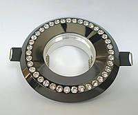 Светильник точечный декоративный FERON DL103 BK прозрачный-чёрный, фото 1