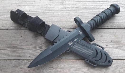 Нож армейский охотничий тактический Columbia USA Спецназ 1388А +пластиковый чехол