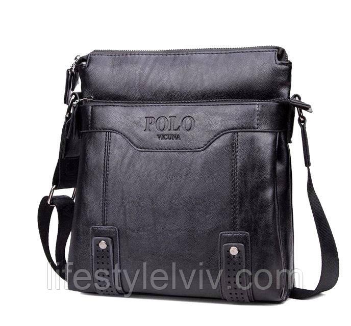40ab55ab7d56 Хорошая мужская кожаная сумка Polo Videng, изготовленная из качественного и  надежного материала необходима каждому мужчине. Эта сумка будет долго  служить ...