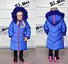 Детская зимняя курточка для девочки на подстежке из овчинки, фото 6