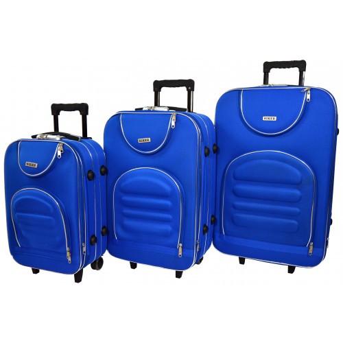 Чемодан Lux набор 3 штуки. Цвет синий.