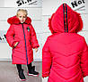 Детское зимнее пальто для девочки на меху интерет  магазин, фото 7