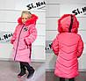 Детское зимнее пальто для девочки на меху интерет  магазин, фото 9