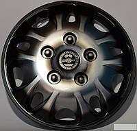 Колпаки на колеса диски для дисков R 12 серо / черные Мекадор плюс