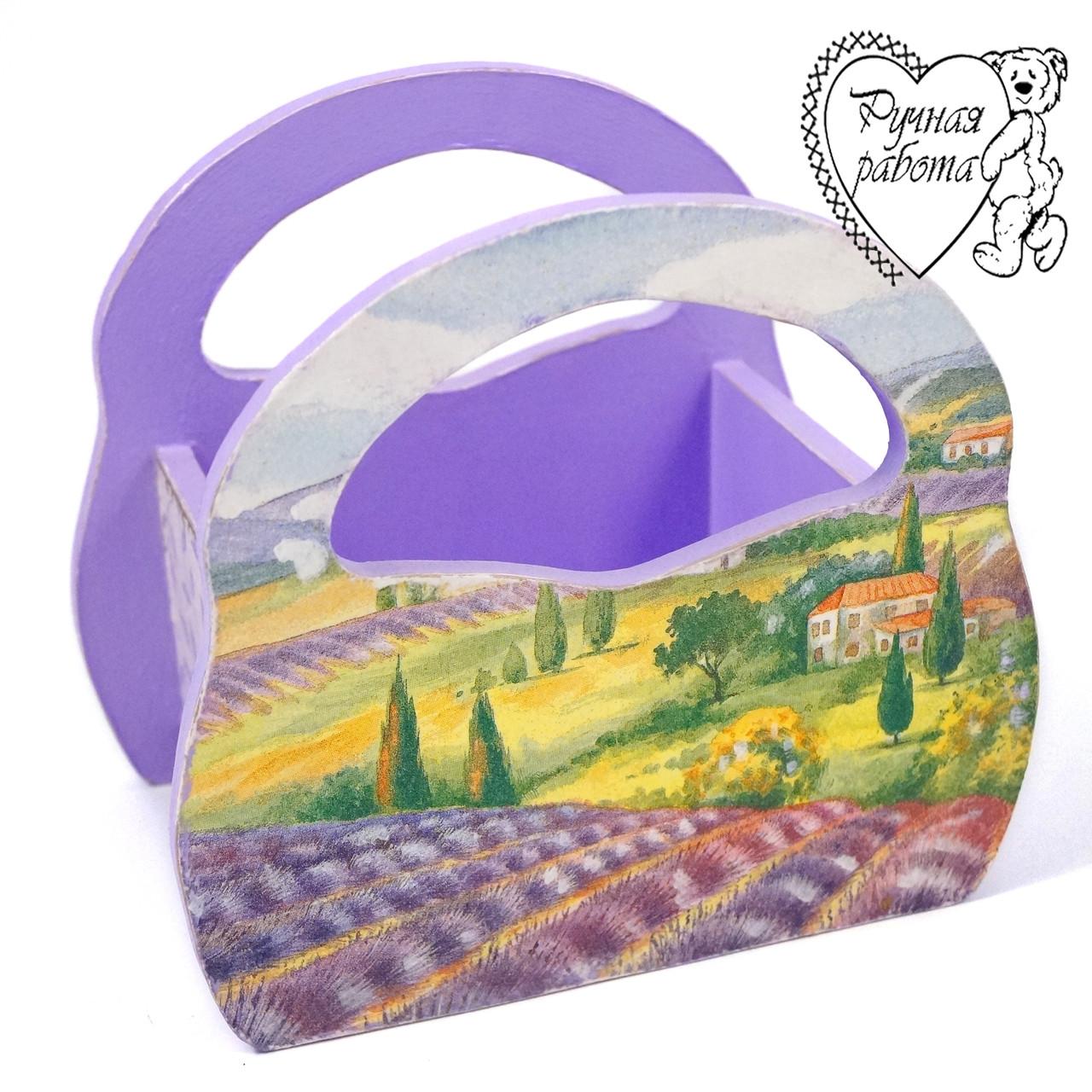 Короб сумочка під серветки, спеції 15 * 15 * 10 см, ручної роботи