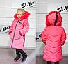 Модные детские куртки и пуховики для девочек с натуральным мехом, фото 5