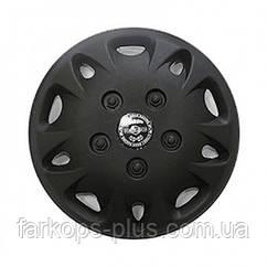 Колпаки на колеса диски для дисков R 12 Мекадор черные
