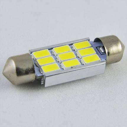 Светодиодная  лампа SLS LED  под цоколь SV8,5(C5W) 39mm 9-5630 Белый, фото 2