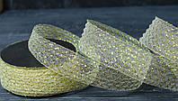 Декоративная лента 4 см гофрованная золотая, фото 1