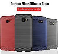 Защитный чехол iPaky Slim с карбоновыми вставками для Samsung Galaxy J6 Plus (2018) (выбор цвета)