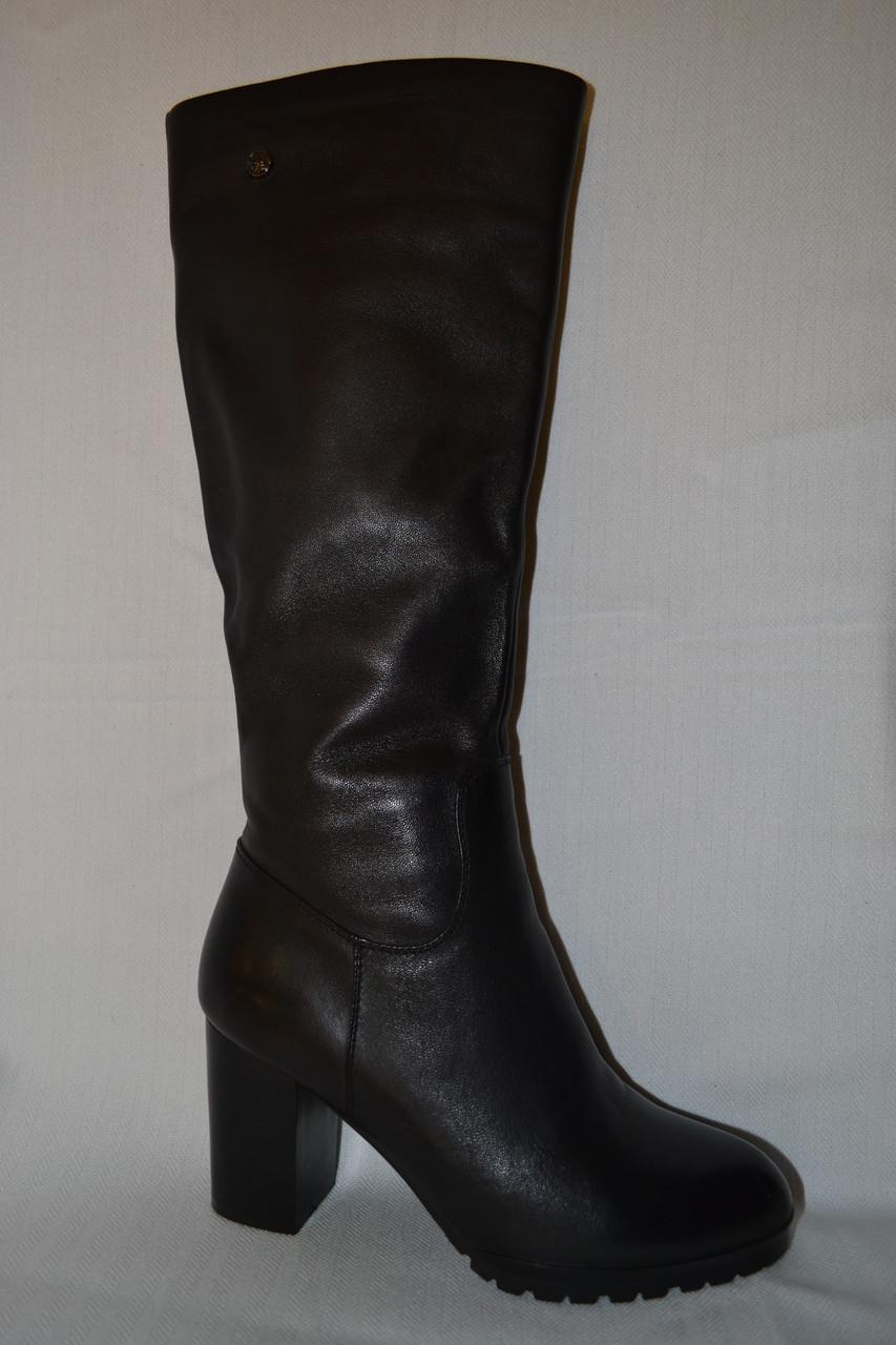 d18bcb7d2 Модные сапоги женские зимние кожаные черные Giomali со скидкой ...