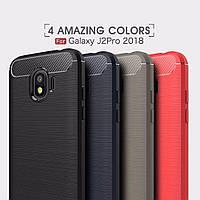 Защитный чехол iPaky Slim с карбоновыми вставками для Samsung Galaxy J2 Core (2018) (выбор цвета)