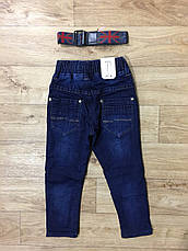 Джинсовые брюки утепленные для мальчиков оптом, F&D , 74-104 рр, фото 3
