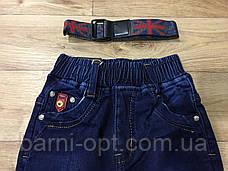 Джинсовые брюки утепленные для мальчиков оптом, F&D , 74-104 рр, фото 2