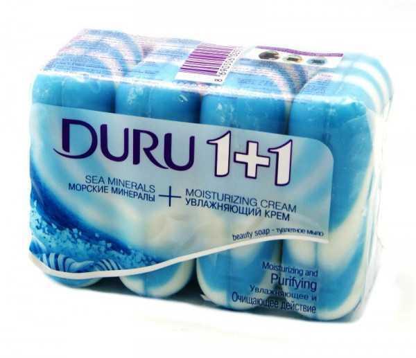 Мыло-крем DURU 1+1  4*90г морские минералы и крем
