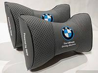 Подушка на подголовник BMW светло-серая
