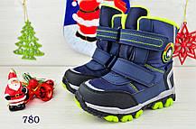 Термо Ботинки детские зимние с мехом  из эко-кожи на мальчика  , фото 3