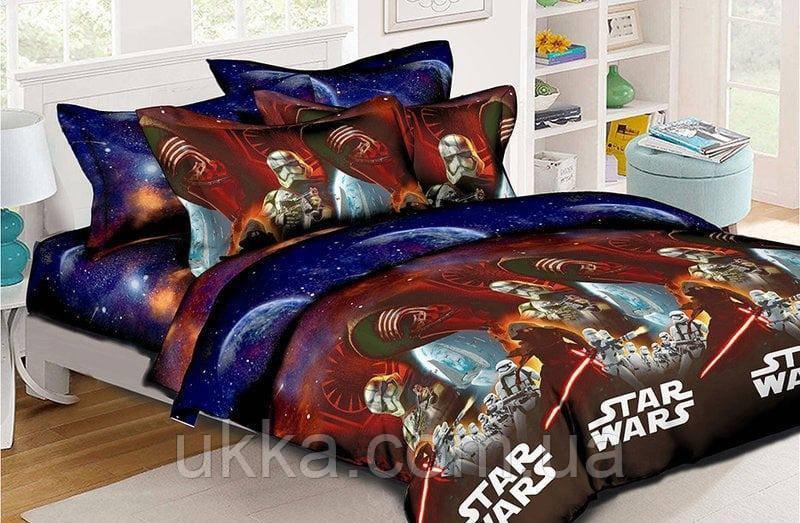 Детское постельное белье полуторное Звездные войны подростковый