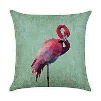 Декоративные подушки Фламинго полигональный 45 х 45 см Berni