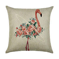 Подушка декоративная Фламинго в цветах 45 х 45 см Berni