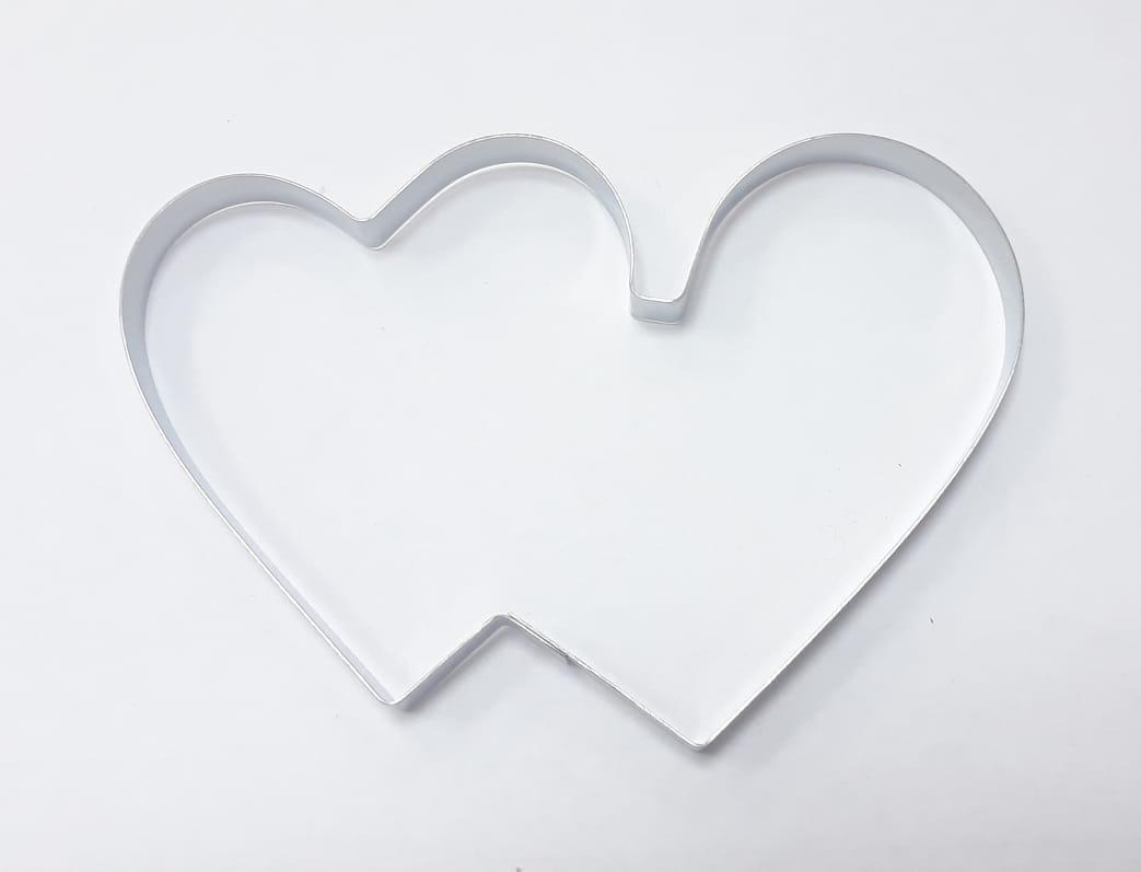 """Вырубка для пряника """"Сердце из 2-х"""" 10см , Галетте  - 04647"""