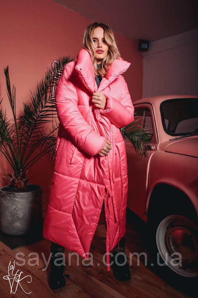 Женское объемное пальто- одеяло в расцветках. ВЛ-10-1118 (С-23)