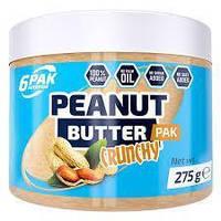 Арахисовая паста 6pak Nutrition Peanut Butter Pak crunchy 275 g