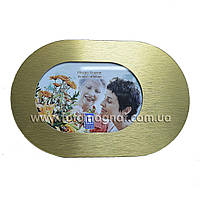 Рамка для фотографий (фоторамка) металл 14,5х9,5см.