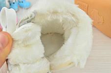 Пинетки детские зимние на меху на девочку белые 12  размер, фото 2