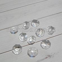 Декоративные кристаллики-подвески  с гранями,  для гирлянды, 1,4 см, 10 шт