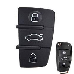 Кнопки для корпуса ключа для Audi A1,A3,A4,A5,A6,A6 ALLROAD QUATTRO,A7,A8,Q2,Q3,Q5,Q7,Q8,R8,RS Q3,RS3,RS4,RS5