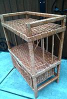Плетена з лози етажерка, фото 1
