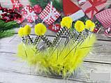 Корона пух с бумбонами, только упаковкой по 12 штук, цвета разные, фото 2