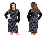 Женское стильное платье №342 (р.54-60) в расцветках, фото 1