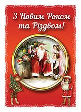 Открытка-вкладыш в Новогодний подарок Дед Мороз, 102*70, фото 3