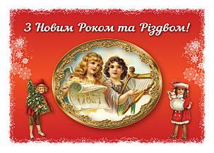 Открытка-вкладыш в Новогодний подарок Дед Мороз, 102*70, фото 2