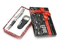 Ручка с открывашкой ножем фонариком набор (16,5х10х3 см)