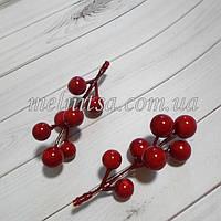 Ягоды для декора,  цвет красный , 12-15 мм,
