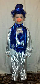 Костюм детский Снеговик (атлас) Код 00113