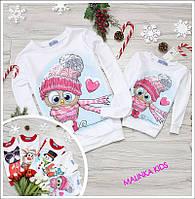 Дитячі новорічні свитшоты(є парні як на фото мама+донька+тато+син)