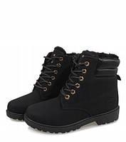 Женские ботинки от производителя зимние чёрного цвета, фото 1