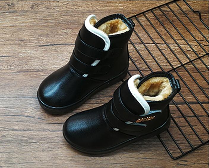Ботинки   детские зимние на меху на девочку черные