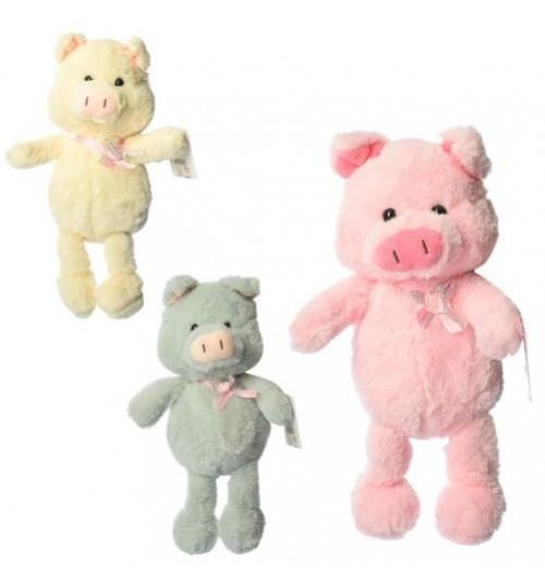"Мягкая игрушка MP 1749 Свинка, размер средний, 23 см, 3 цвета Кривой Рог ""Ухти-Тухти"""